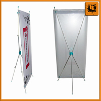Trade show custom aluminum legs x banner stand outdoor x banner for promotional event and sport