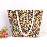 2016 Fashion Women Handbags Dumplings Package Simple Style Female Single Shoulder Bags Leopard Casual Beach Bag For Girls