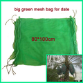 China Supply insect-resistant green plastic mesh drawstring dates palm bag