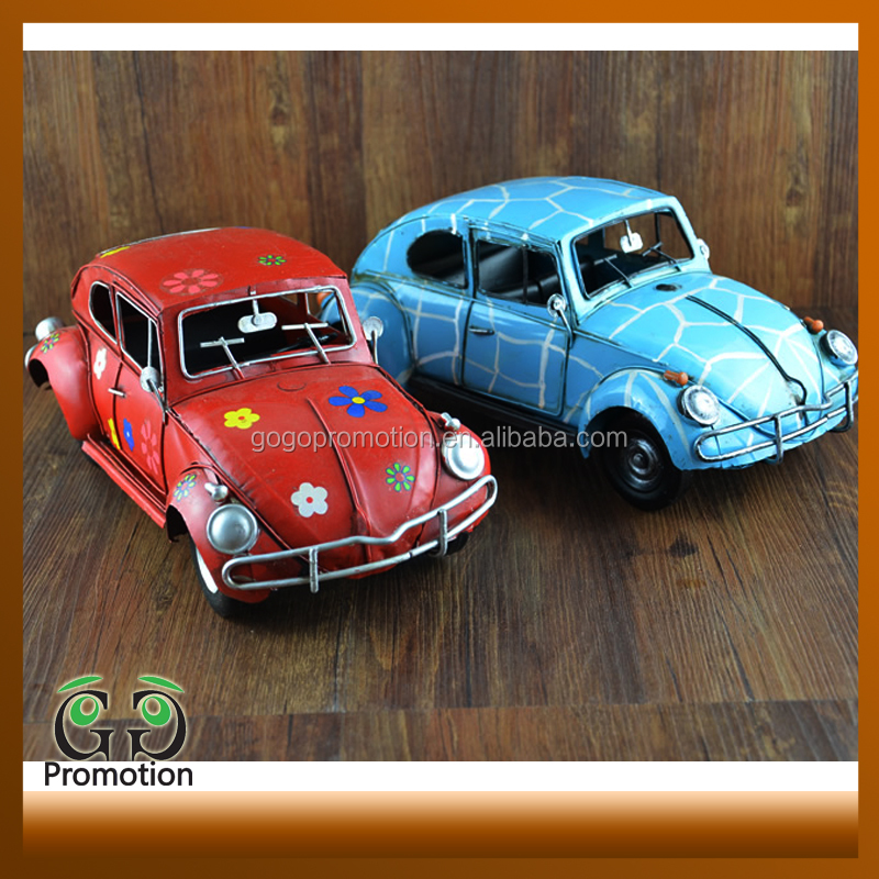 Metal antique metal model beetle car models for New Year promotion gift