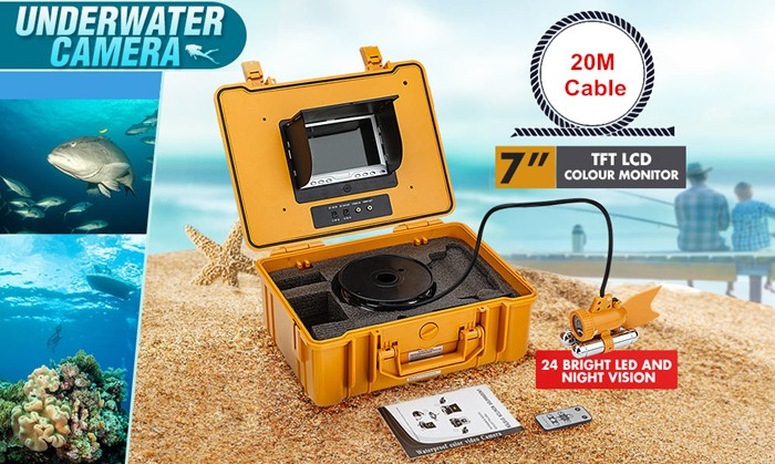 7inch LCD fish finder/ LCD monitor with underwater camera to monitor the underwater fild