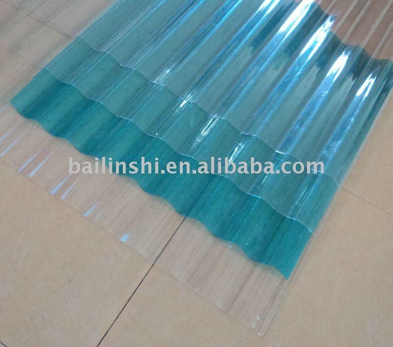Caliente transparente de policarbonato corrugado - Techo transparente policarbonato ...