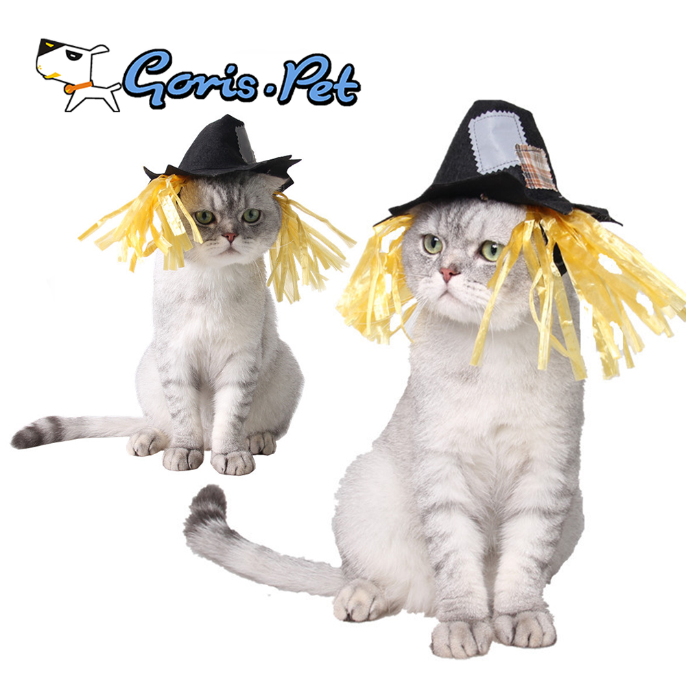 Wholesale Dog Halloween Costumes Scarecrow Witch Hat