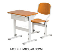 New Design School Desk with Drawer Study Table and chairs M808+KZ02M