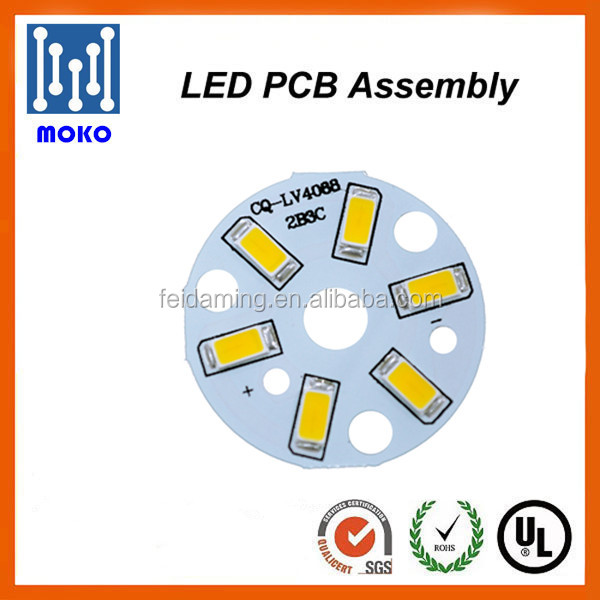 Round lighting plate aluminum pcb SMD5730 led pcb for <strong>Bulb</strong> and Panel Light