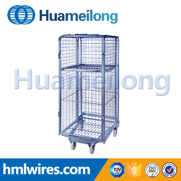 Free sample steel laundry transport trolley