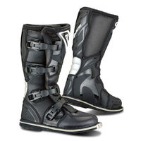 Four buckcle, off road motorcycle black boots