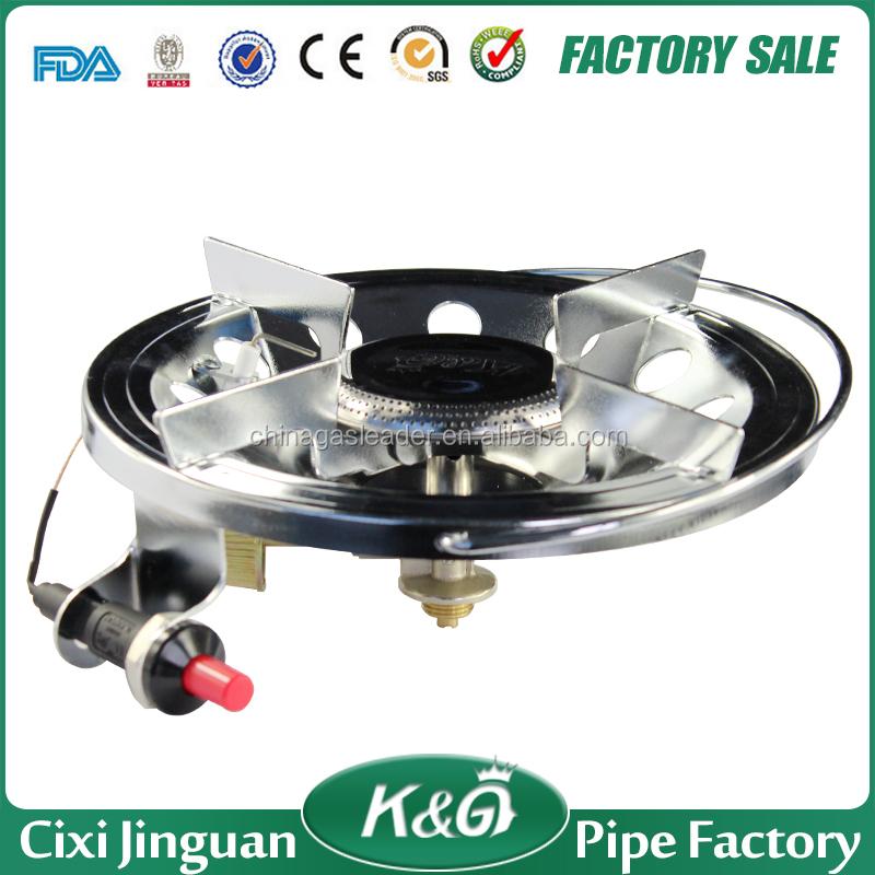 Cixi Jinguan autoignition iron ring italian camping gas cooker camping gas stove with soncap need partner for business in Africa