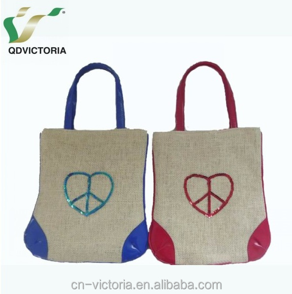 Personalized Paper Cloth Kid's Bag With Peace Sign