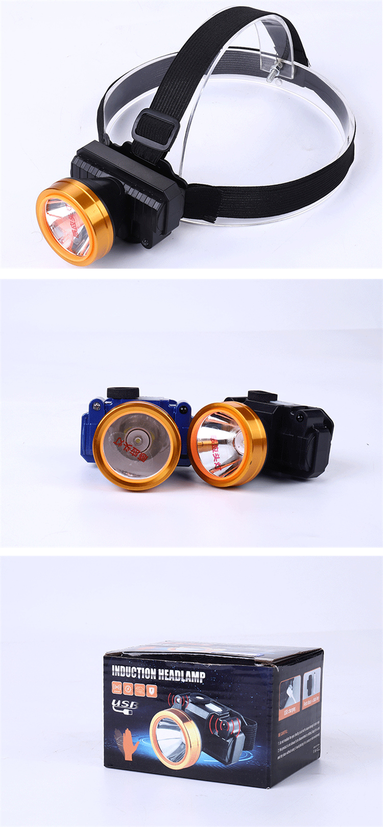 Highlight Emergency USB rechargeable led light headlamp