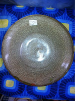 Antique Chinese Export Crackled Glazed Plate #022