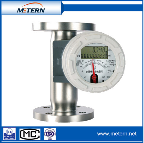 Rotary type mechanism connter volumetric flow meter