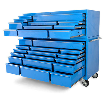 72 Inches multi drawer Heavy duty Blue Metal industrial vintage tool cabinet