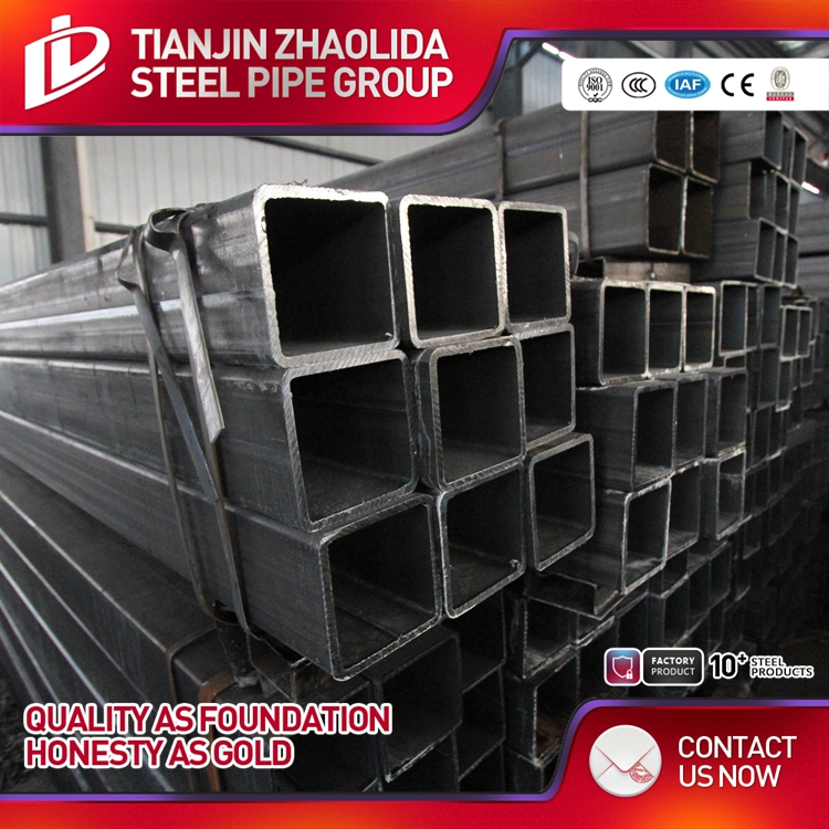 black seamless square steel pipe/tube hot sale! price