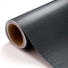 PVC Material and 1.52*30m Size High quality pvc 3D carbon fiber vinyl wraps black