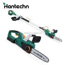 18v big long handle electric cordless chain saw with telescopic/folding handle