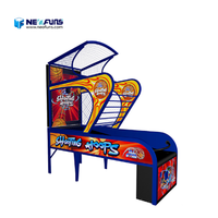 Professional electronic coin operated basketball shooting hoops game machine