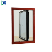 FoshanDouble glass with internal blinds insulated aluminum casement window price