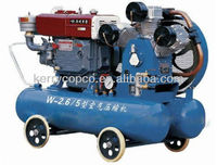 25 hp diesel driving diving air compressor for mining