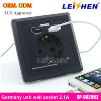 Germany type socket usb wall socket with CE FCC RoHS Approval