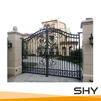 wrought iron gate, indian house main gate designs