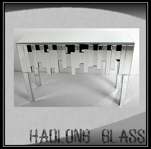 High Quality living room mirrored glass furniture