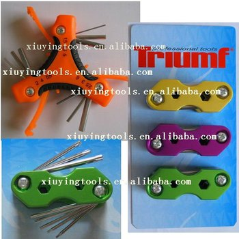 folding hex key set ( CRV steel)
