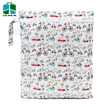 custom printing Wet Dry Bag for baby diaper and clothes