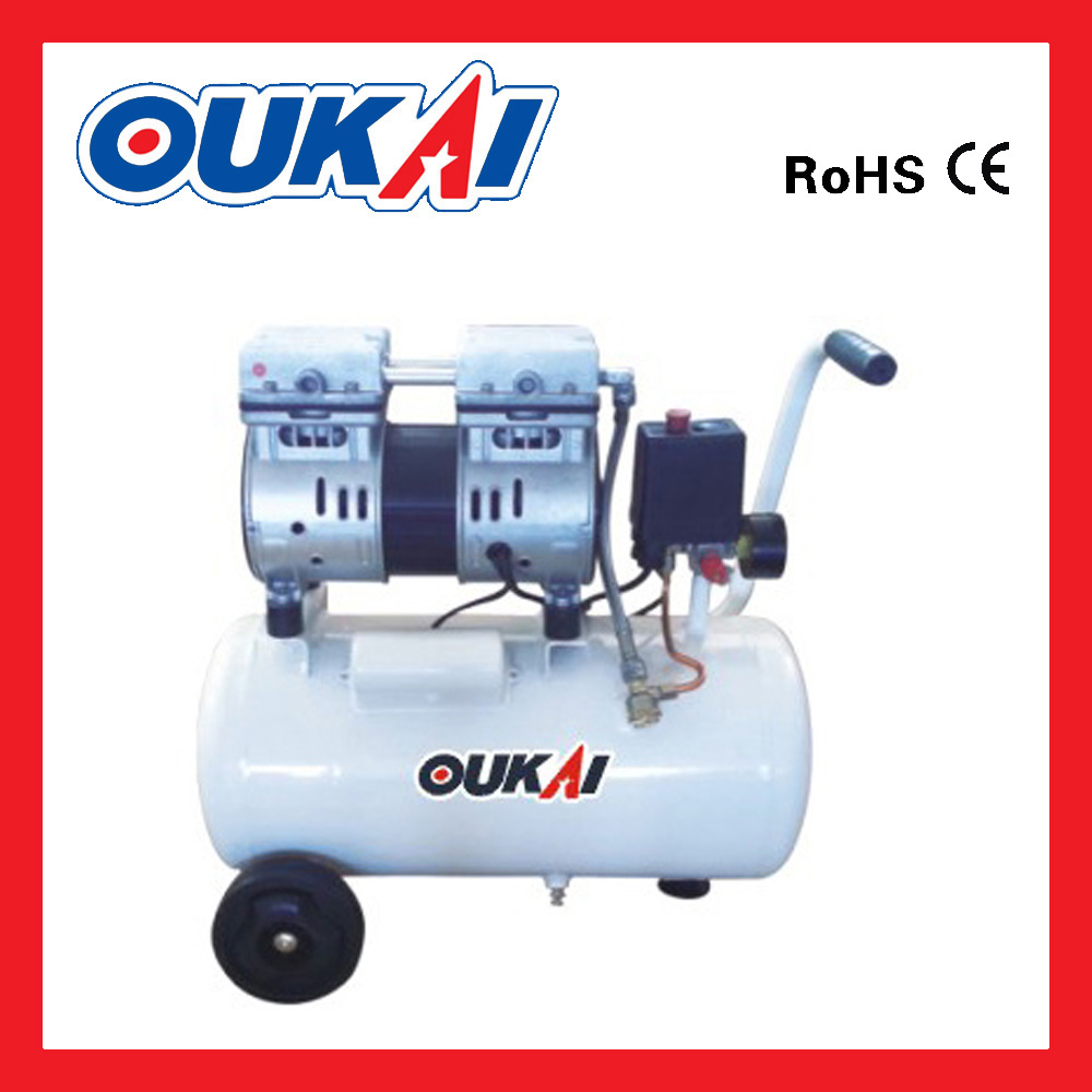 Noiseless silent oil free portable oil free air compressors vacuum pump, Oil less small air compressor piston type
