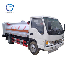 China manufacturer JAC 4*2 flat head small oil truck tanker with 5000L capacity