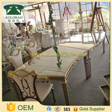 New style glass mirrored wedding dining room table