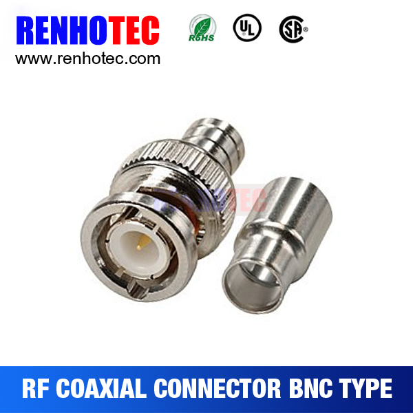 BNC Male Plug to RCA Female Jack Coax Cable Video Adapter Connector