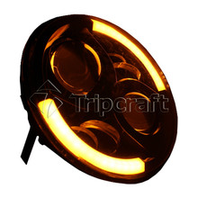 "Chinese new arrival 90w 6"" round led work light with high/low beam used as headlights"