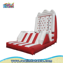 Inflatable rock climbing wall for sale, used commercial children inflatable rock climbing wall, inflatable climbing wall