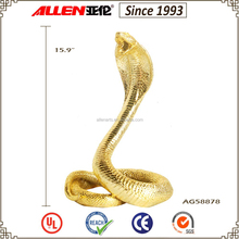 "15.9"" factory direct gold plated resin snake statue"