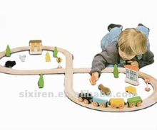 kids wooden educational toy/ 40 pcs diy train track