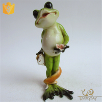New Design Style Customized Outdoor Ornament Animal Frog & Snake Figurine