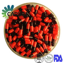Size 0 halal gelatin capsules empty pill capsules manufacturer red