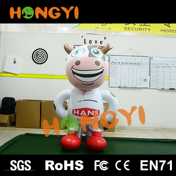Large inflatable milk cow creative pvc cartoon advertising cow model custom various animal for outdoor event