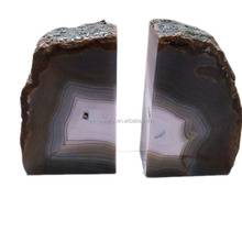 Polished Natural Color Agate Bookend <strong>Shelf</strong>