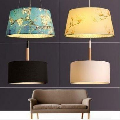 European New Product Bedside Table Lamp With Cloth Cover Fashion Fabric Shade Modern Table Light