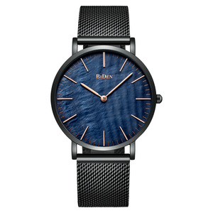WJ-7383 Top Popular Quartz Watches Luxury Water Resistant Wristwatch Stainless Steel Band Ultrathin Watch For Men