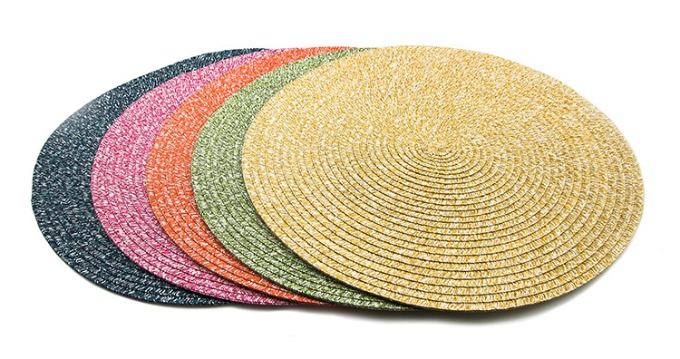Eco-friendly Snow Flake Braided Round Paper Table Placemat