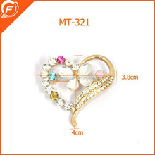 heart shaped safety pin brooches for wedding dress
