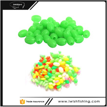 Soft Oval Luminous Glow Green Color Fishing Plastic Beads