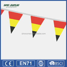 Promotion Printed PE Customized Triangle String Flags
