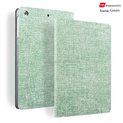 Jean Texture Pu Leather Smart Case for Ipad Mini, Folio Stand Cover Case for Ipad Mini123 With Auto Sleep Wake Function