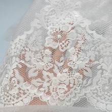 White Color and <strong>Lace</strong> Product Type 3D <strong>Embroidery</strong> <strong>lace</strong> fabric 3D flower for wedding dress or home textiles
