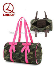 Fashionable Belvah Pink Camo Quilted Duffle Bag