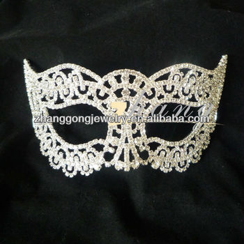 Beauty rhinestone party mask
